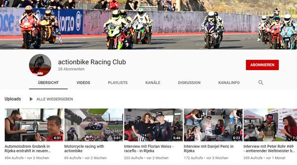 actionbike Racing Club now on Youtube!!!